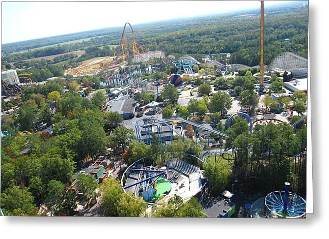Park Photographs Greeting Cards - Kings Dominion - 121212 Greeting Card by DC Photographer