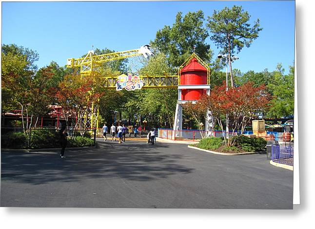Pretty Greeting Cards - Kings Dominion - 121218 Greeting Card by DC Photographer