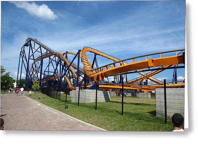 Dominion Greeting Cards - Kings Dominion - Dominator - 12122 Greeting Card by DC Photographer