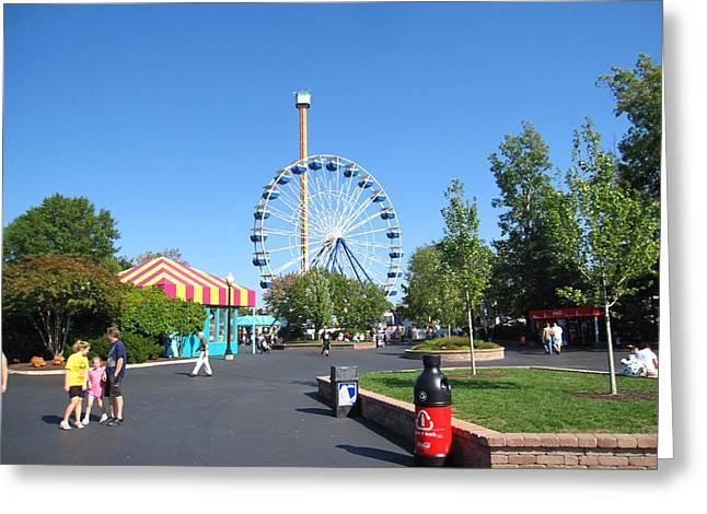 Drop Photographs Greeting Cards - Kings Dominion - Drop Tower - 12122 Greeting Card by DC Photographer