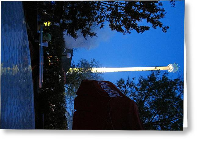 Drop Greeting Cards - Kings Dominion - Drop Tower - 12124 Greeting Card by DC Photographer