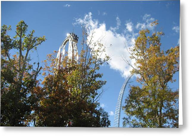 Hyper Greeting Cards - Kings Dominion - Hypersonic XLC - 12121 Greeting Card by DC Photographer