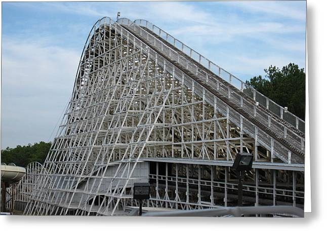 Kings Dominion - Rebel Yell - 12121 Greeting Card by DC Photographer