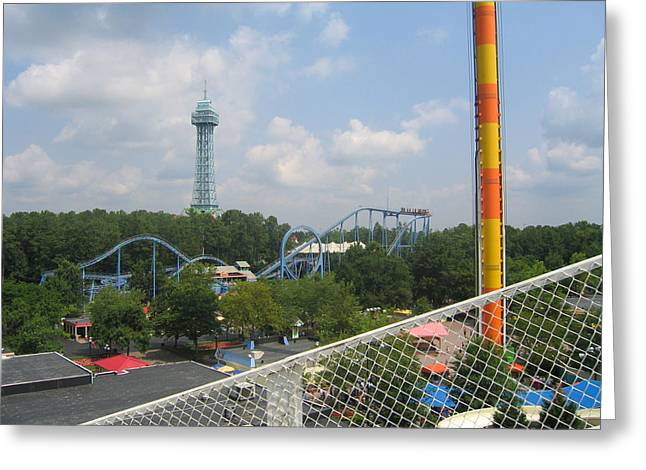 King Greeting Cards - Kings Dominion - Shockwave - 01132 Greeting Card by DC Photographer