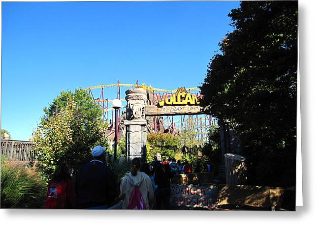 King Greeting Cards - Kings Dominion - Volcano - 12125 Greeting Card by DC Photographer
