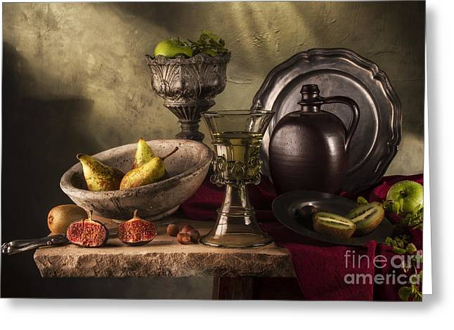 Flagon Greeting Cards - Kings Goblet and Fruits Greeting Card by Jon Wild