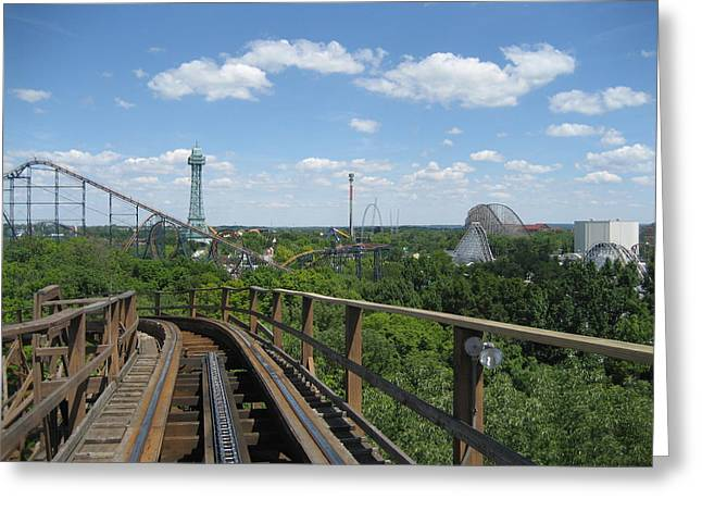 Amusements Greeting Cards - Kings Island - 121255 Greeting Card by DC Photographer