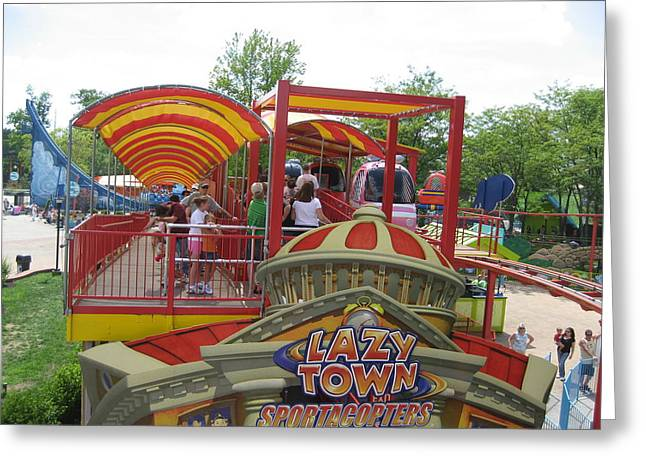 Amusements Greeting Cards - Kings Island - 121271 Greeting Card by DC Photographer
