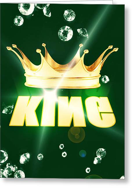 Pierre Chamblin Greeting Cards - King Greeting Card by Pierre Chamblin