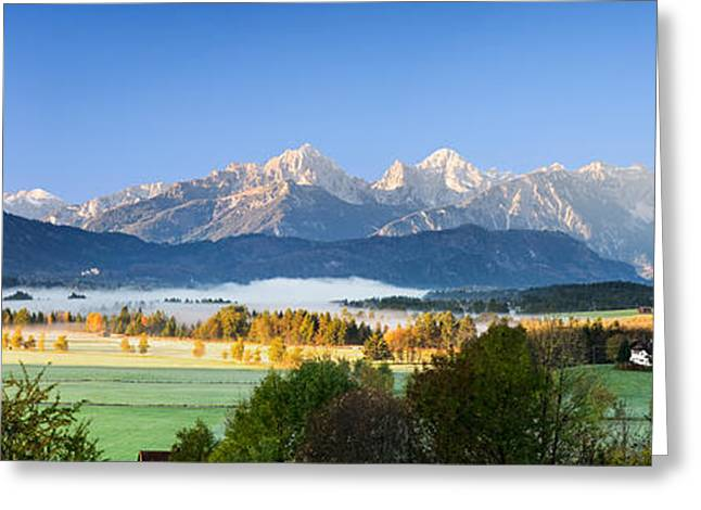 European Alps Greeting Cards - Kings Region And Allgau Alps, Bavaria Greeting Card by Panoramic Images
