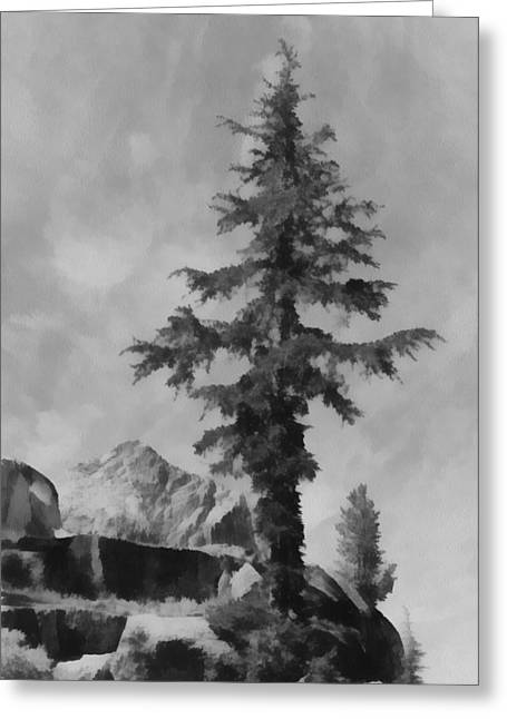 White River Scene Greeting Cards - Kings River Canyon Greeting Card by Ansel Adams