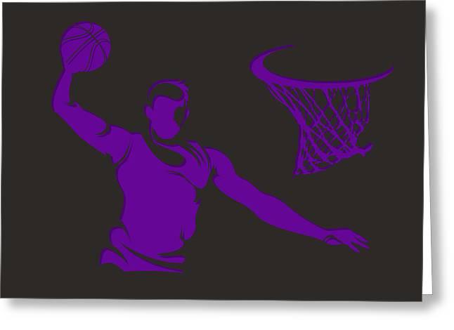 Basket Ball Greeting Cards - Kings Shadow Player1 Greeting Card by Joe Hamilton