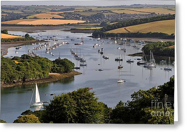 Sailboat Photos Greeting Cards - Kingsbridge Estuary Devon Greeting Card by Louise Heusinkveld