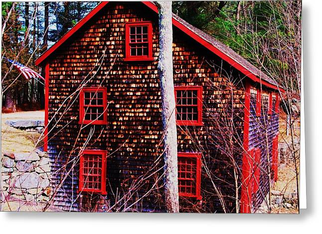 Kingsbury Grist Mill Greeting Card by Marcus Dagan