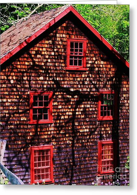 Kingsbury Pond Grist Mill 2 Greeting Card by Marcus Dagan