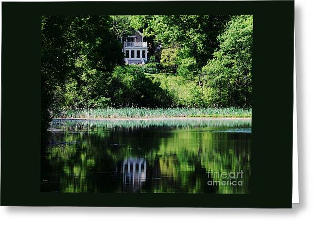 Reflections At Kingsbury Pond, Medfield  Greeting Card by Marcus Dagan