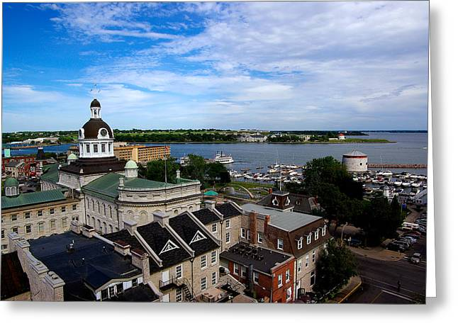 Kingston City Hall Greeting Cards - Kingston Afternoon Light Greeting Card by Paul Wash