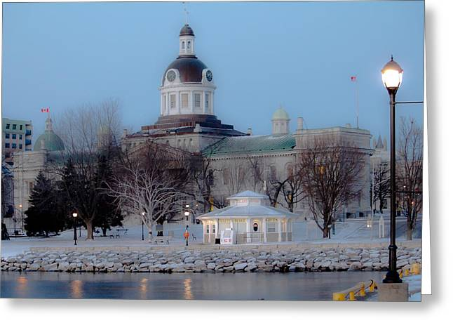 Kingston City Hall Greeting Card by Michel Soucy