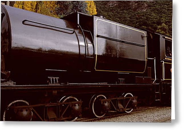 Kingston Greeting Cards - Kingston Flyer Vintage Steam Train Greeting Card by Panoramic Images