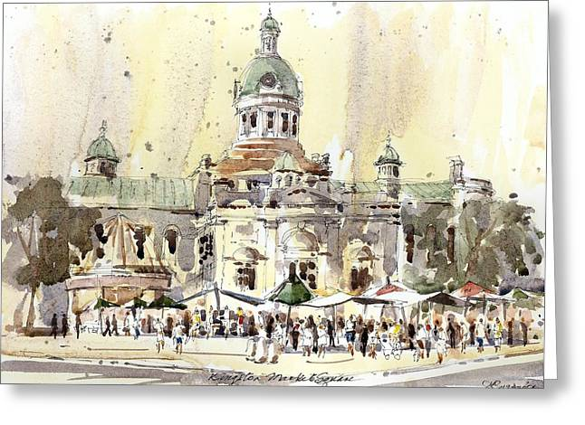 Kingston City Hall Greeting Cards - Kingston Market Square Greeting Card by David Gilmore