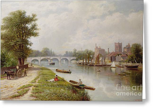 Punting Greeting Cards - Kingston on Thames Greeting Card by Robert Finlay McIntyre