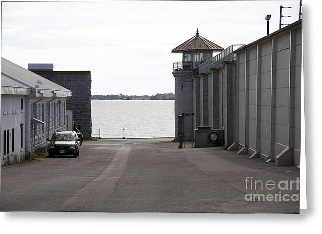 Kingston Greeting Cards - Kingston Penitentiary Outside Greeting Card by Elaine Mikkelstrup