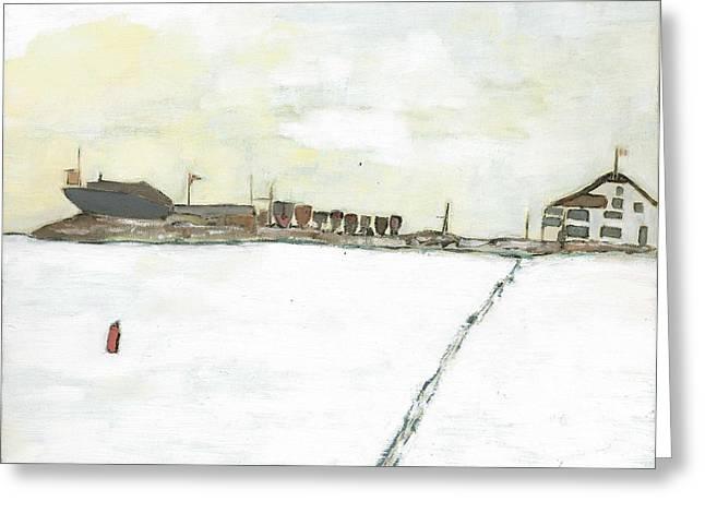 Kingston Paintings Greeting Cards - Kingston Yacht Club Greeting Card by David Dossett
