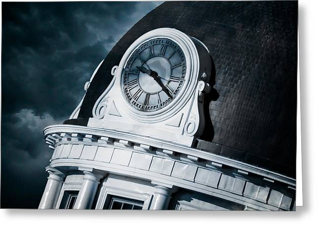 Kingston City Hall Greeting Cards - Kingstons Clock Greeting Card by Michel Soucy