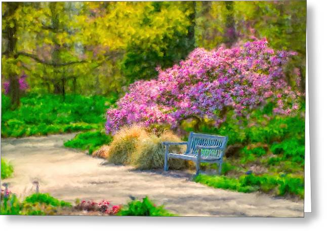 Tulip Tree Digital Art Greeting Cards - Kingwood Gardens Greeting Card by Mary Timman