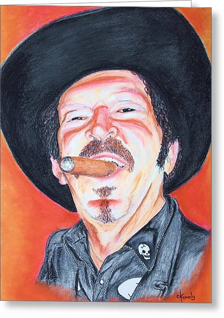 Cigar Pastels Greeting Cards - Kinky Greeting Card by Craig Kennedy