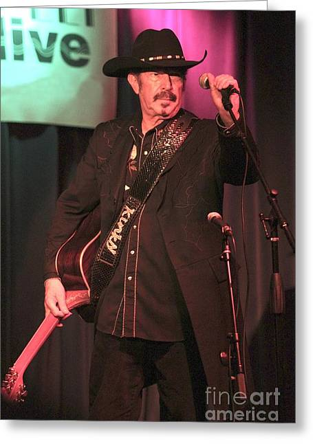 Columnist Greeting Cards - Kinky Friedman Greeting Card by Front Row  Photographs