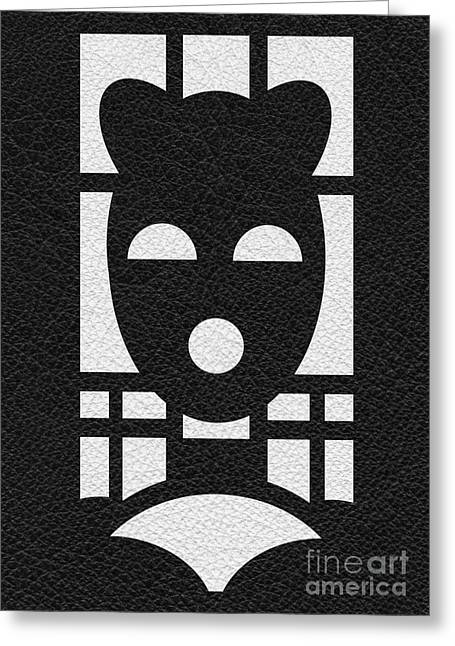 Bdsm Greeting Cards - Kinky Time Mask Greeting Card by Roseanne Jones