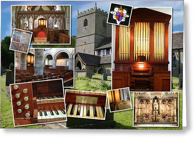 Pipe Organ Greeting Cards - Kinlet UK Greeting Card by Jenny Setchell