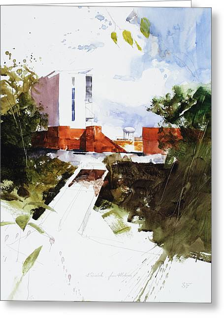 Iowa City Greeting Cards - Kinnick from Melrose Greeting Card by Stan Fellows