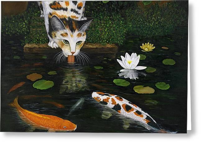Water Lilly Greeting Cards - Kinship Greeting Card by Karen Zuk Rosenblatt