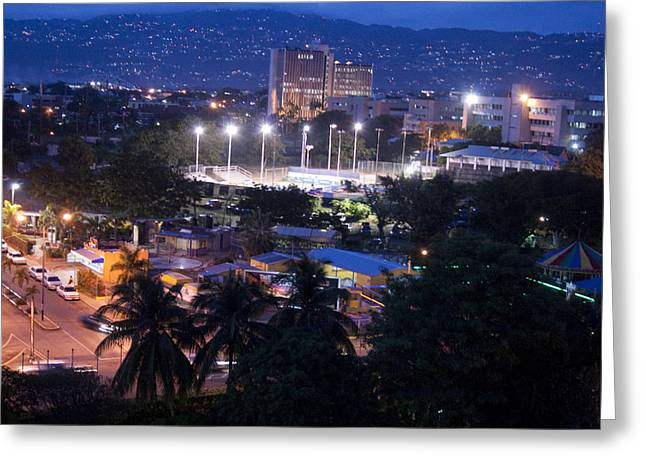 Kingston Greeting Cards - Kingston At Night Greeting Card by Oswald Phills
