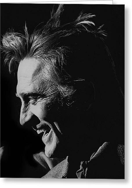 Kirk Douglas Greeting Cards - Kirk Douglas Cast A Giant Shadow homage 1966  Old Tucson Arizona Greeting Card by David Lee Guss