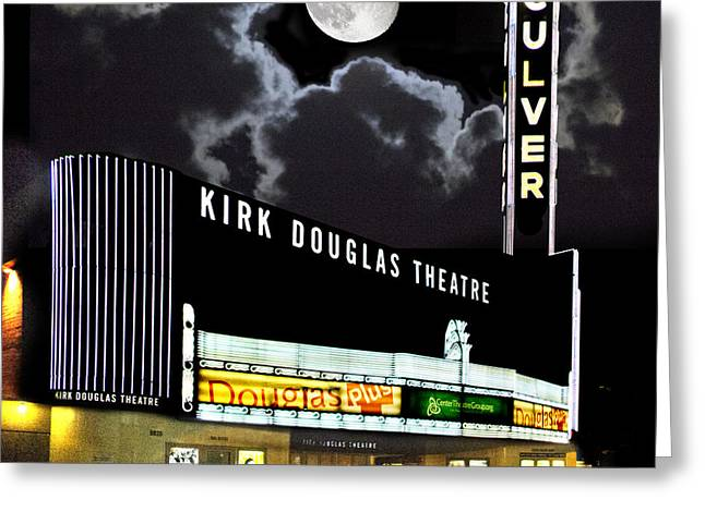 Kirk Douglas Greeting Cards - Kirk Douglas Theatre Greeting Card by Chuck Staley