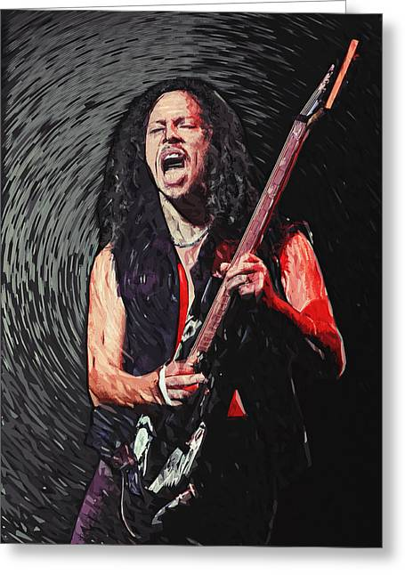 Hard Rock Cafe Greeting Cards - Kirk Hammett Greeting Card by Taylan Soyturk