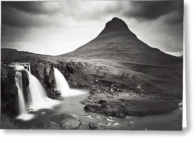 Iceland Greeting Cards - Kirkjufellfoss Greeting Card by Nina Papiorek