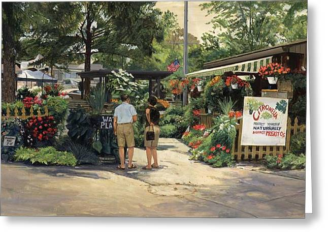 Open Market Greeting Cards - Kirkwood Flower Graden Greeting Card by Don  Langeneckert