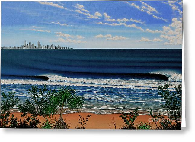 Surf City Greeting Cards - Kirra Point   Australia Greeting Card by Marty  Calabrese