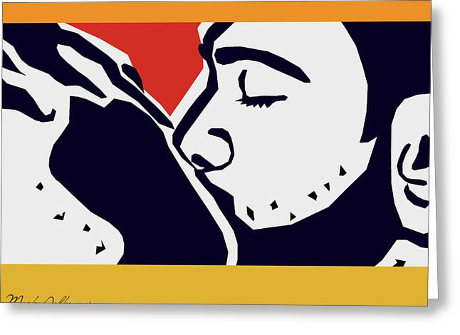 Kiss 2 Greeting Card by Mark Ashkenazi