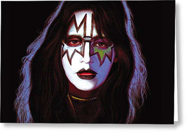 Kissing Greeting Cards - KISS - Ace Frehley Greeting Card by Epic Rights