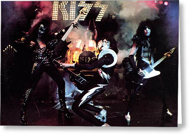 Kiss Greeting Cards - KISS - Alive! Greeting Card by Epic Rights