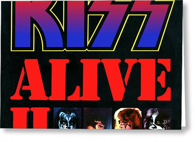 1977 Greeting Cards - KISS - Alive II Greeting Card by Epic Rights