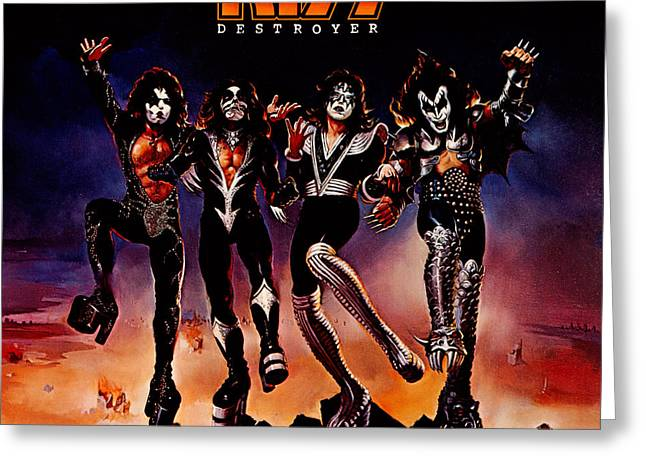 Kiss - Destroyer Greeting Card by Epic Rights