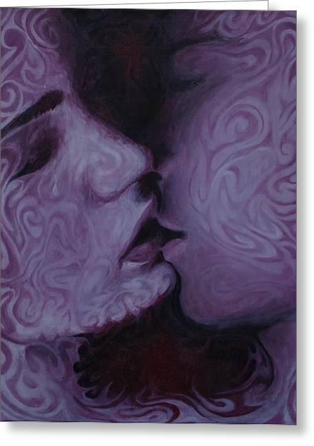 Hidden Desires Greeting Cards - Kiss Greeting Card by Eric Austin
