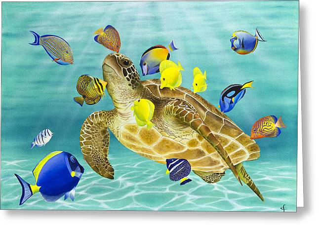 Under The Sea Greeting Cards - Kiss Fest Greeting Card by Carolyn Steele