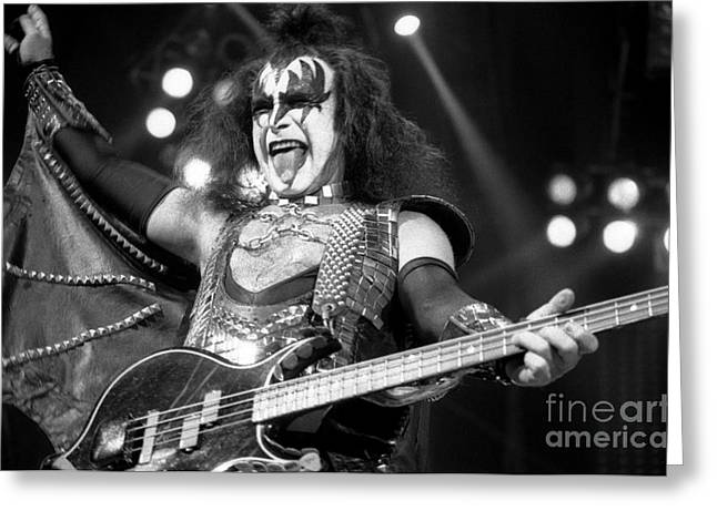 Tim Bischoff Greeting Cards - Kiss-Gene-GP10 Greeting Card by Timothy Bischoff